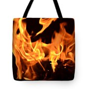 Leaping Flames Tote Bag