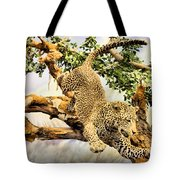 Leaping Leopard Tote Bag