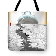 Leaping Through Time Tote Bag by Jimi Bush