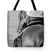 Leather Chaps Tote Bag