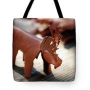 Leather Elk  Tote Bag