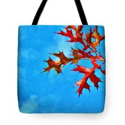 Leaves Against The Sky Tote Bag