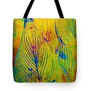 Leaves In The Jungle Tote Bag by Judi Bagwell