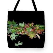 Leaves On Sidewalk Tote Bag