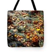 Leaves On The Boardwalk Tote Bag