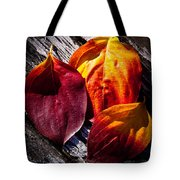 Leaves On The Deck Tote Bag