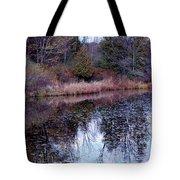 Leaves On Water Tote Bag