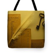 Ledgers And Keys Tote Bag