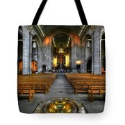 Leeds Cathedral Baptismal Font And Nave Tote Bag
