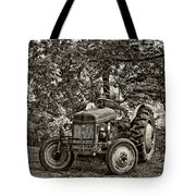 Left Fielder Sepia Tote Bag