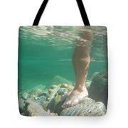 Legs Underwater Tote Bag