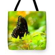 Lemon Lime Butterfly Tote Bag