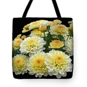 Lemon Meringue Chrysanthemums Tote Bag