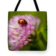 Lensbaby Ladybug On Pink Clover Tote Bag