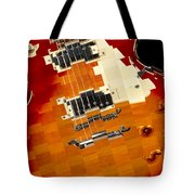 Classic Guitar Abstract Tote Bag