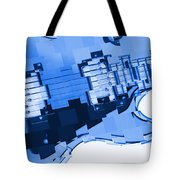 Abstract Guitar In Blue 2 Tote Bag