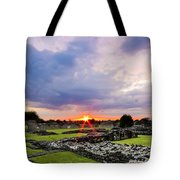 Lesnes Abbey Ruins Sunset Tote Bag