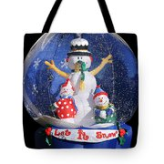 Let It Snow Tote Bag by Christine Till