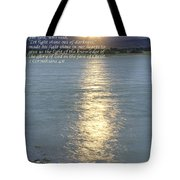Let Light Shine Out Of Darkness Tote Bag