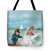 Let's Go Sailing  Tote Bag