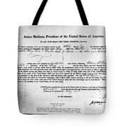 Letter Of Marque, 1812 Tote Bag