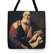 Leucippus, Ancient Greek Philosopher Tote Bag by Science Source