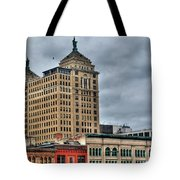 Liberty Building And Hotel Lafayette Tote Bag