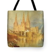 Lichfield Tote Bag by Joseph Mallord William Turner