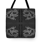 Licorice And Lace Tote Bag