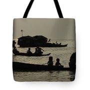 Life On Lake Tonel Sap Tote Bag