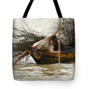 Life On Lake Tonle Sap 3 Tote Bag