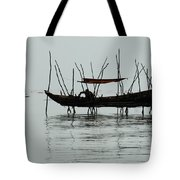 Life On Lake Tonle Sap  Tote Bag