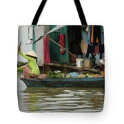 Life On Lake Yonle Sap 9 Tote Bag