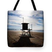 Lifeguard Tower Newport Beach California Tote Bag by Paul Velgos