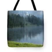 Lifting Fog On The Yellowstone Tote Bag