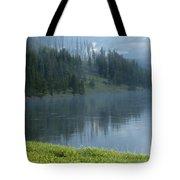 Lifting Fog On The Yellowstone Tote Bag