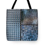 Light Blue And Brown Textural Abstract Tote Bag