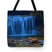 Light Blue Falls Tote Bag