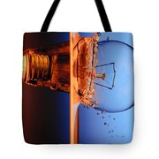 Light Bulb Shot Into Water Tote Bag by Setsiri Silapasuwanchai