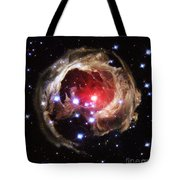 Light Echoes From Exploding Star Tote Bag