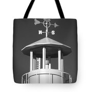 Light House On Coney Island In Black And White  Tote Bag