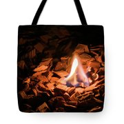 Light Of Fire Creates Coziness ... Tote Bag