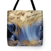 Light Reflected On Water Flowing Tote Bag