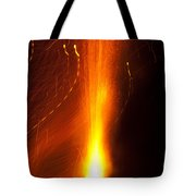 Light Waves Dancing Around The Flames Of A Fire Cracker Tote Bag