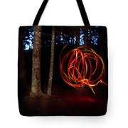 Light Writing In Woods Tote Bag