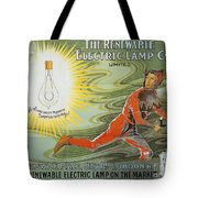 Lightbulb Ad, 1900 Tote Bag