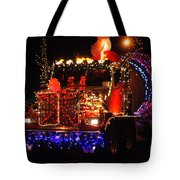 Lighted Cement Truck Tote Bag