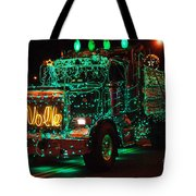 Lighted Green Dumptruck Tote Bag