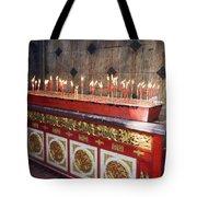Lighted Incense Sticks Tote Bag
