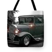 Lighted Old Black And White Tote Bag